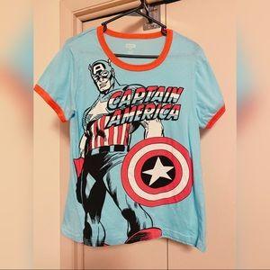 Retro Captain America Marvel Tshirt size XL